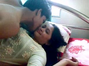 Cute indian couple in hidden camera